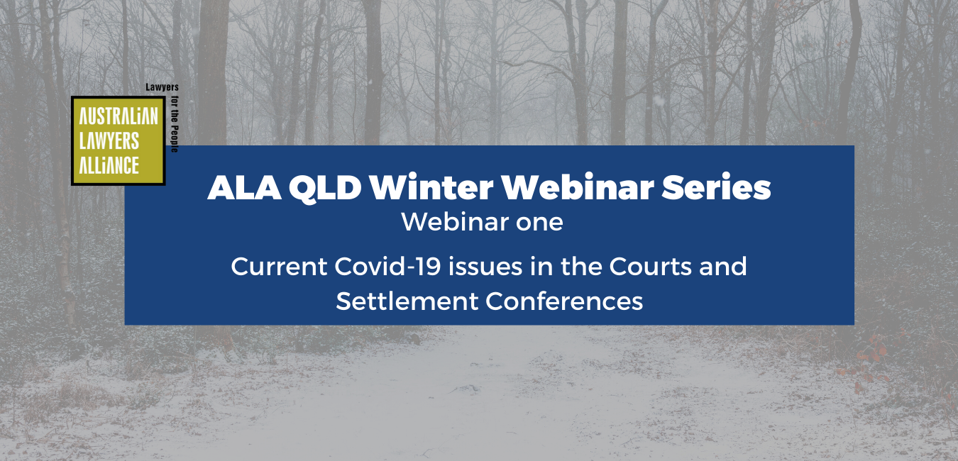 Webcast - Current COVID-19 Issues in the Courts and Settlement Conferences