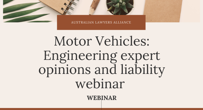 Motor Vehicles: Engineering expert opinions and liability webinar